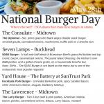 National Burger Day CSOA